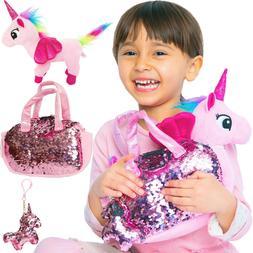 Unicorn Plush Pet 3pcs Set - Fancy Toys Pag Plush - For Girl