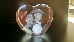 Unique Gift idea Personalized 3D Photo Engraved Crystal Hear