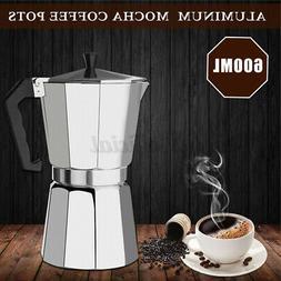 US 12 Cups 600ML Coffee Percolator Moka Pot Stove-Top Espres