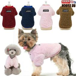 US Chihuahua Yorkie Small Dogs Pet Fleece Clothes Coat Jacke