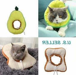 US Pet Anti-bite Recovery Collar Toast bread Avocado Soft Ne