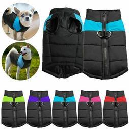 US Pet Dog Vest Jacket Warm Waterproof Clothes Winter Padded