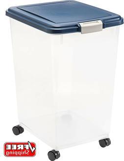 IRIS USA Airtight Pet Secure Dry Food Storage Container BPA-