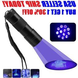 UV Flashlight Black Light Flashlight Ultraviolet LED Pet Uri