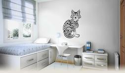 Wall Art Vinyl Sticker Cat Kitten Animal Pets Pattern Tattoo