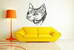 Wall Art Vinyl Sticker Room Decal Mural Decor Egypt Cat Head