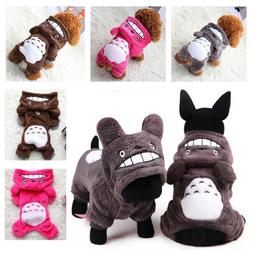 Warm Totoro Hoodie Costume Apparel Dog Puppy Clothes Cat Pet