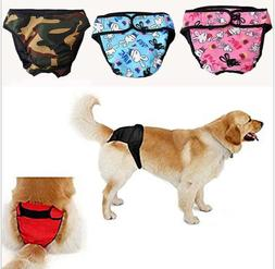 Washable Dog Diaper Female Pet Pant Reusable Puppy Camo Red