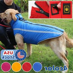 Waterproof Warm Winter Dog Coat Clothes Dog Padded Fleece Pe
