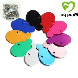 Wholesale Blank Pet Dog Cat ID Tags Dog Name Tag Collar Acce