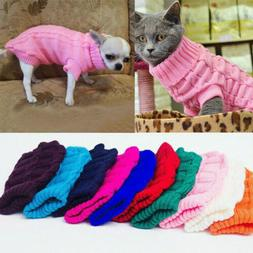 Winter Dog Clothes Puppy Pet Cat Sweater Jacket Coat For Sma