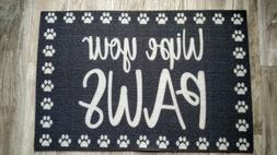 Wipe Your Paws Door Welcome Mat Dog Pet Food Indoor / Outdoo