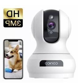 Wireless Security Camera 1536P Pet Camera, CONICO 3MP Dog Ca