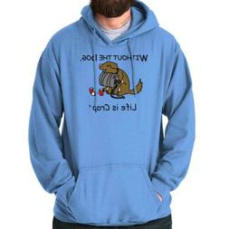 Life is Crap Without Dog Keg Funny Pet Gift Hoodies Sweat Sh