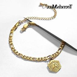 For Women Customized Initial Letter Anklet Bracelet Personal