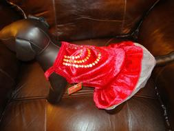 Wow great Dog dress Holiday Velvet XS coats,vests check out