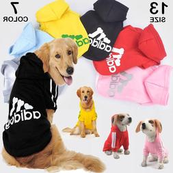 XS~9XL Winter Casual Adidog Pets Dog Clothes Warm Hoodie Coa