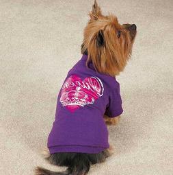Zack & Zoey Queen Pup Dog T-Shirt Tee Purple Pet Top Crown