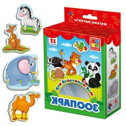 Zoo Little World Soft Magnets for Kids, 2+, Pets, Animals, o